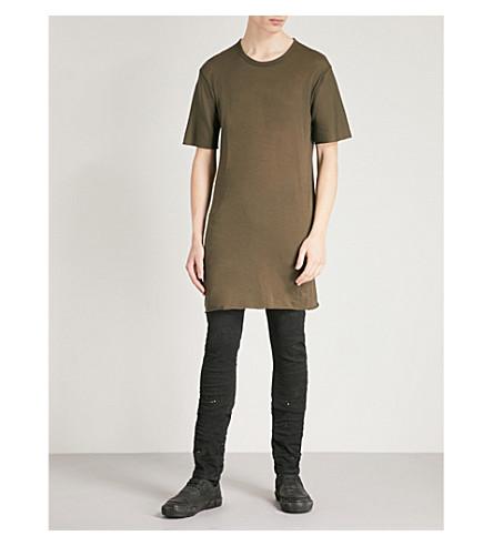BORIS BIDJAN SABERI Oversized cotton-jersey T-shirt (Archive+green