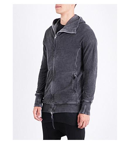 BORIS BIDJAN SABERI Faded cotton-jersey hoody (Basalt+grey