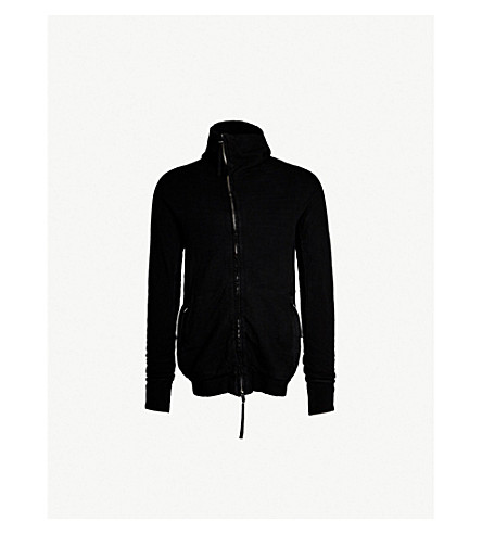 BORIS BIDJAN SABERI Faded cotton-jersey hoody (Black