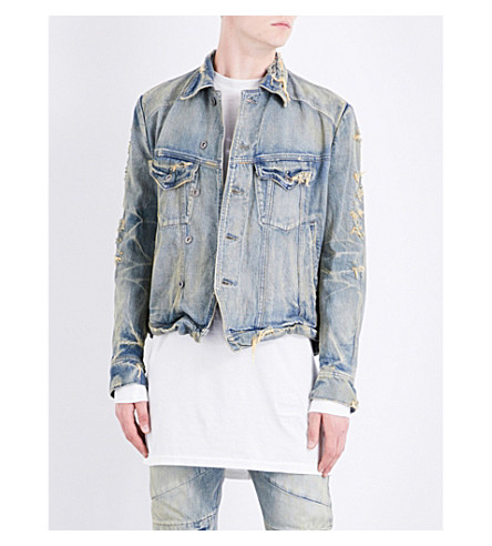 JULIUS Distressed denim jacket (Indigo