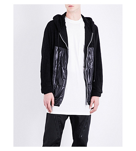 JULIUS Hooded fleece and shell jacket (Black