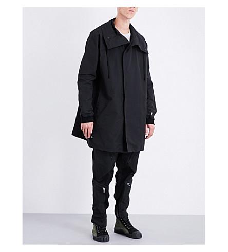 JULIUS Patch-detail shell jacket (Black