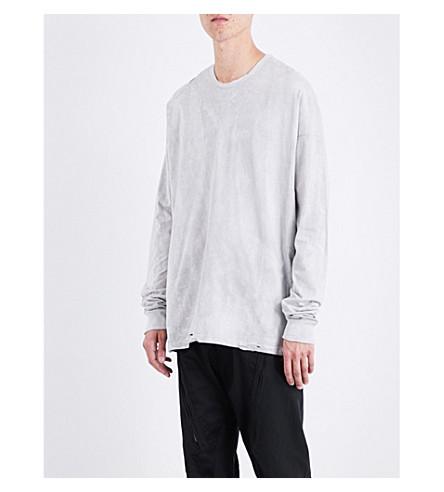 JULIUS Tie-dye cotton-jersey top (Grey