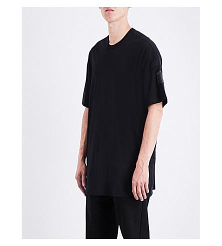 JULIUS Oversized cotton T-shirt (Black
