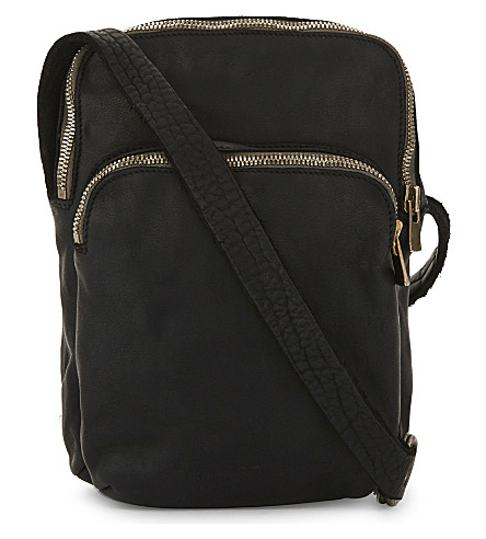 GUIDI Zip-around horse leather duffel bag (Black