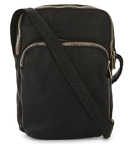 GUIDI Zip-around horse leather holdall (Black