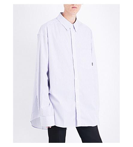 VETEMENTS Striped oversized cotton shirt (White+blue+stripes