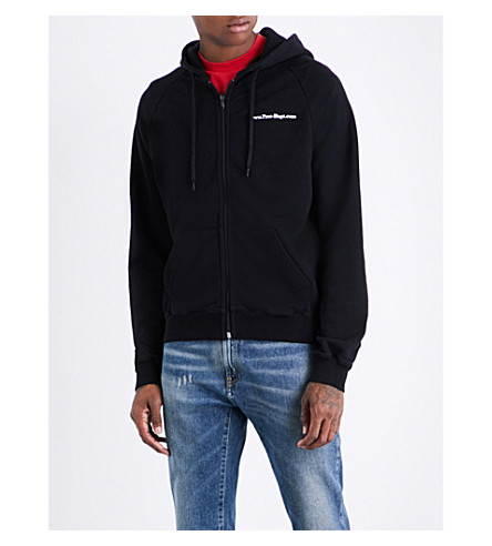 VETEMENTS Free Hugs cotton-jersey hoody (Black+print