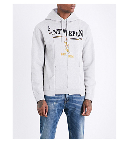 VETEMENTS Antwerp cotton-jersey hoody (Grey