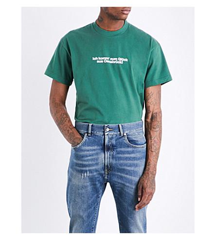 VETEMENTS Tourist cotton-jersey T-shirt (Green