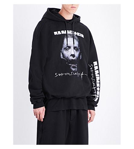 VETEMENTS Rammstein cotton-blend hoody (Black