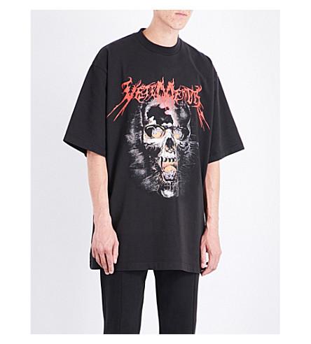 VETEMENTS Heavy Metal cotton-jersey T-shirt (Black