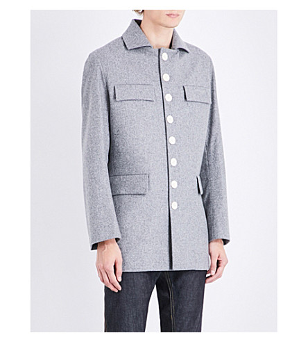 WALES BONNER Archer Safari wool coat (Grey