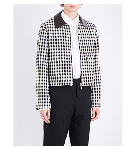 WALES BONNER Louis checked cotton jacket (Black+cream