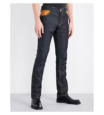 WALES BONNER Chapal slim-fit straight jeans (Indigo