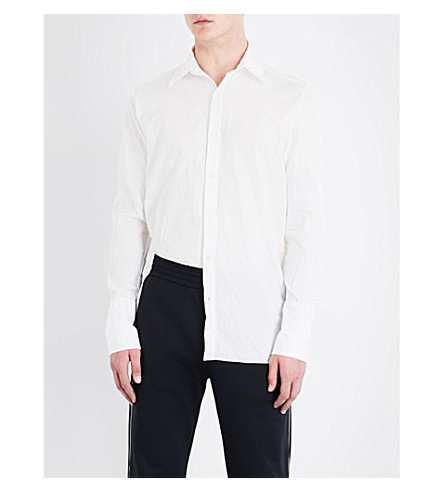 WALES BONNER Regular-fit cotton shirt (Ivory+-+wash