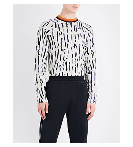 WALES BONNER Ebony cotton-jersey top (Cheetah