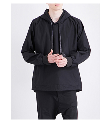 A DICIANNOVEVENTITRE 1923 hooded cotton jacket (Blk
