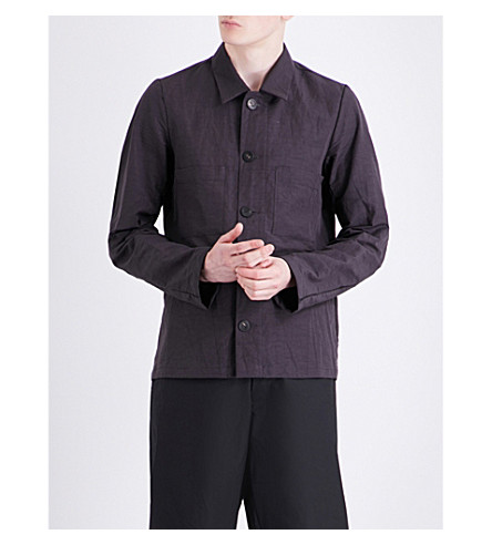 A DICIANNOVEVENTITRE 1923 Worker cotton and linen-blend shirt (Washed+blk