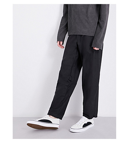 A DICIANNOVEVENTITRE 1923 dropped-crotched relaxed-fit cotton trousers (Blk