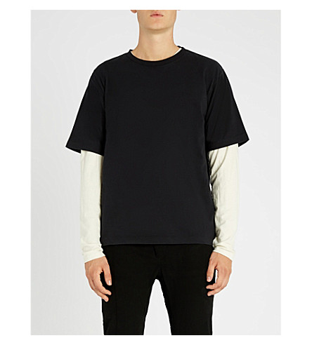 UNRAVEL Vintage Skate cotton-jersey T-shirt (Black+white