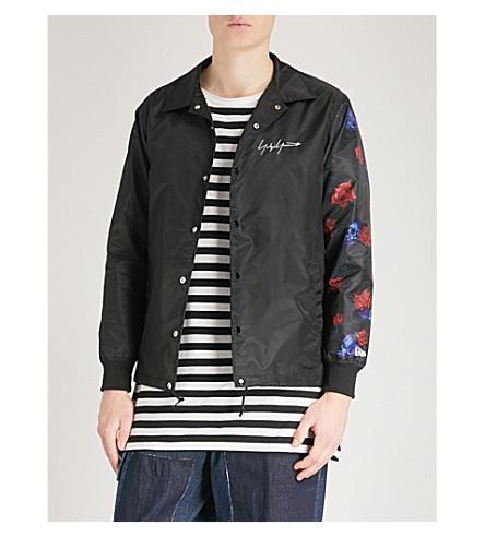 YOHJI YAMAMOTO Rose-print shell jacket (Black