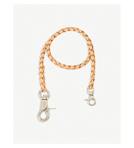 YOHJI YAMAMOTO Braided leather wallet cord (Beige