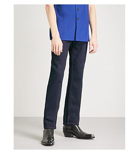CALVIN KLEIN 205W39NYC Contrast-stitch slim-fit straight jeans (Indigo