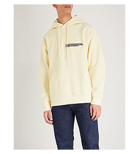 CALVIN KLEIN 205W39NYC Logo-embroidered cotton-jersey hoody (Light+yellow