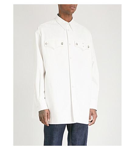 CALVIN KLEIN 205W39NYC Oversized cotton shirt (White