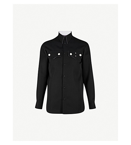 CALVIN KLEIN 205W39NYC 西羊毛衬衫 (黑色