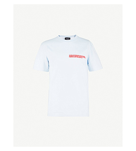 CALVIN KLEIN 205W39NYC Text cotton-jersey T-shirt (Air