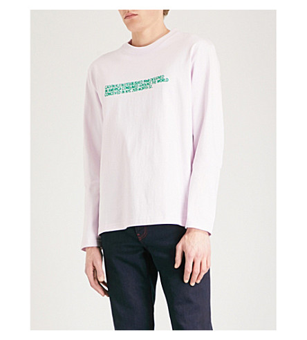 CALVIN KLEIN 205W39NYC Branded print cotton-jersey sweatshirt (Blush