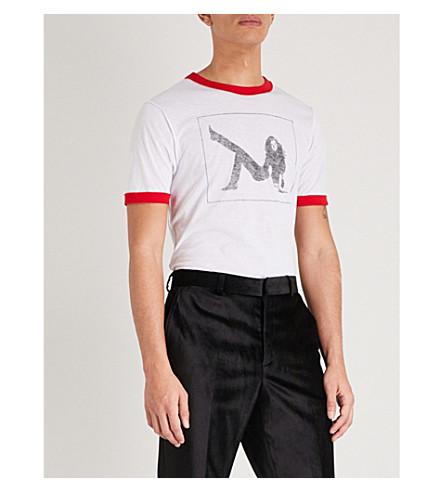 CALVIN KLEIN 205W39NYC Lady-print cotton T-shirt (Off+white