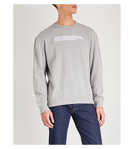 CALVIN KLEIN 205W39NYC Text cotton-jersey sweatshirt (Black+ivory+chamois