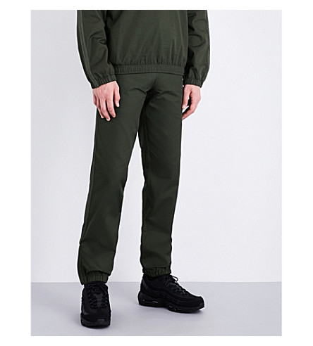 MAINS Track cotton-drill jogging bottoms (Olive