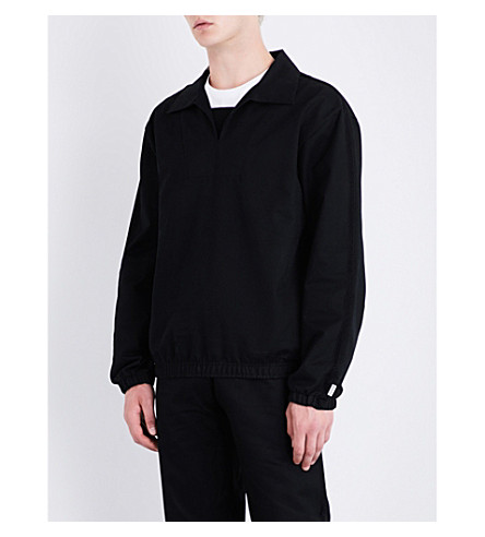 MAINS Track cotton-drill top (Black