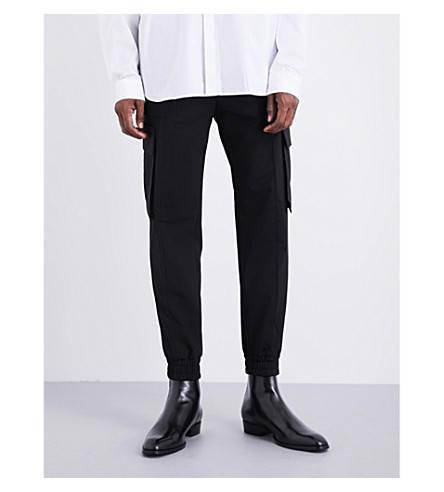 JUUN J Patch-pocket tapered wool trousers (Black