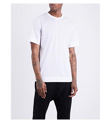 JUUN J Contrast-panel cotton T-shirt (White