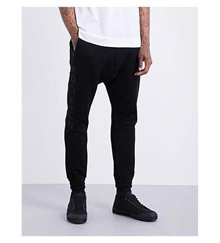 JUUN J Archive appliqué-motif cotton-jersey jogging bottoms (Black