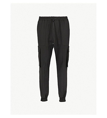 JUUN J Tapered woven trousers (Black