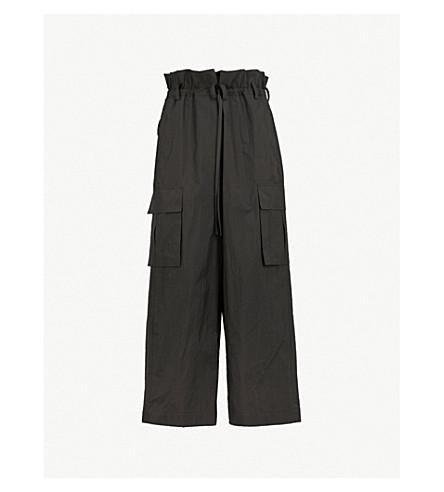 JUUN J Loose-fit wide cotton-blend trousers (Black