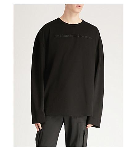 JUUN J Left Unsaid embroidered cotton-jersey sweatshirt (Black