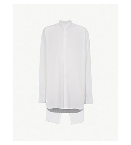 JUUN J Split back cotton-blend shirt (White