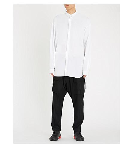 con Camisa J espalda dividida mezcla blanca de JUUN algodón CTXOfCwq
