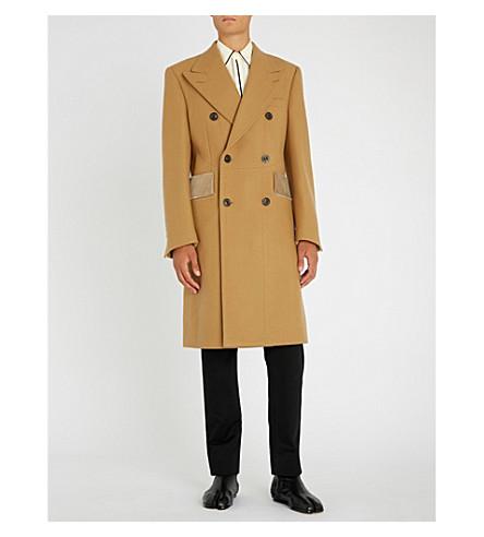 MAISON MARGIELA Double-breasted wool coat (Nut+meg