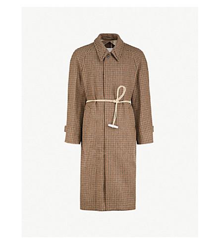 MAISON MARGIELA Houndstooth wool coat (Walnut