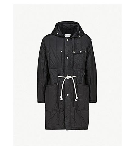MAISON MARGIELA 连帽绗缝软壳面料大衣 (黑色