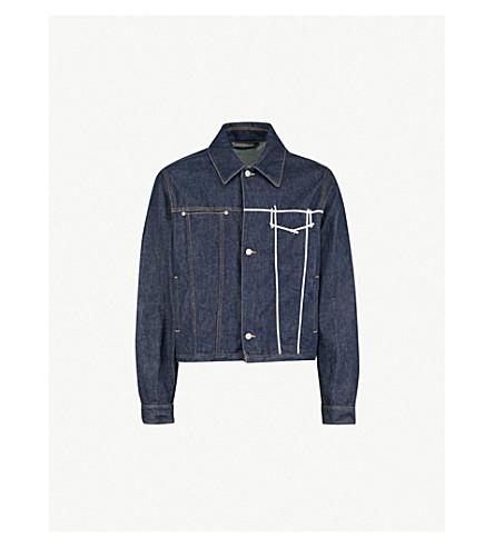 MAISON MARGIELA Embroidered strips denim jacket (Indigo