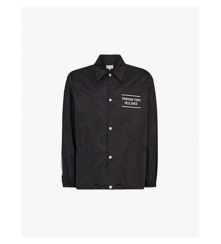 MAISON MARGIELA Logo-print shell jacket (Black